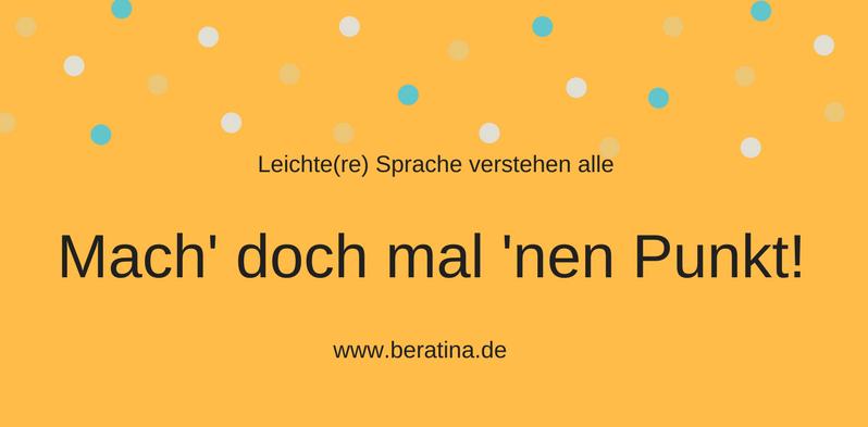 Engagement in Sachen Leichte Sprache beweist BeraTina seit mehr als zwei Jahren