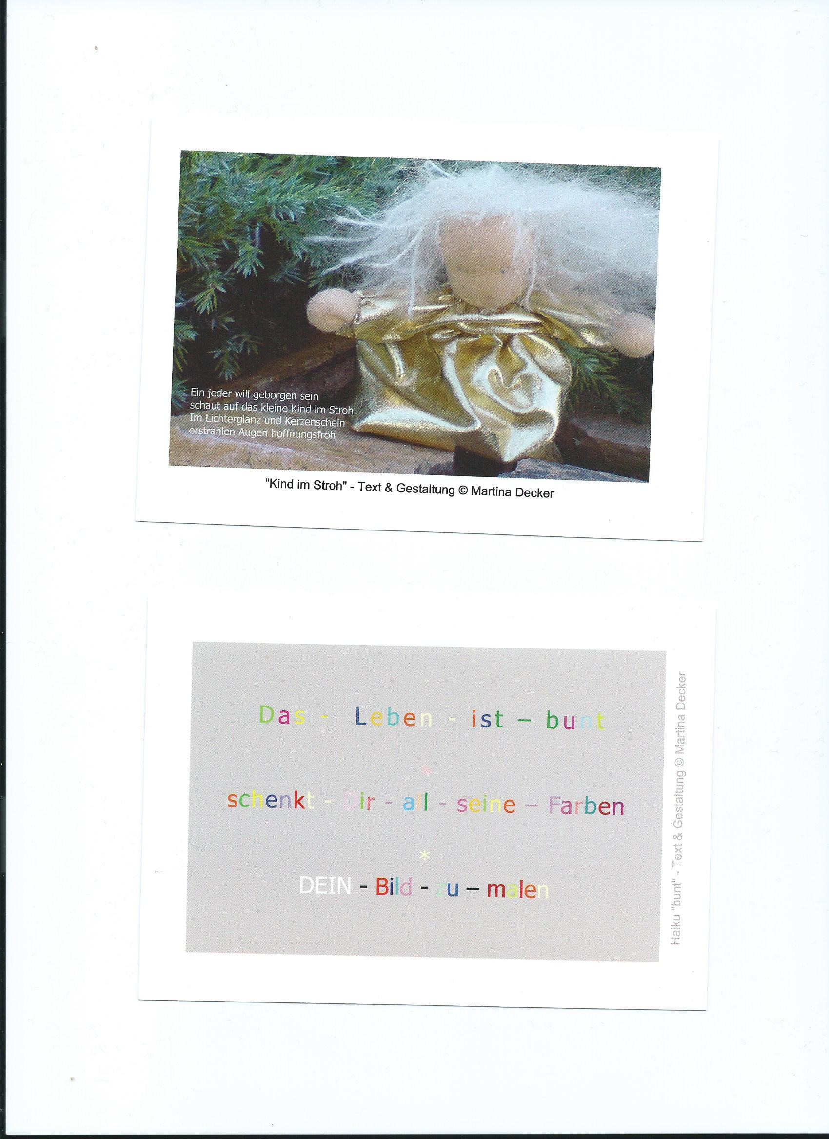 Texte präsentieren geht auch mit Postkarten Tipps von BeraTina
