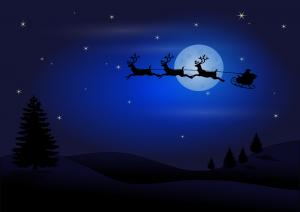 BeraTina Weihnachtsgeschichte in Leichter Sprache von Martina Decker Mit dem Weihnachtsmann unterweg im Rentierschlitten