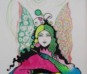 Textilmalerei von Birgit Kraneiß-Hopp im BeraTina-Interview