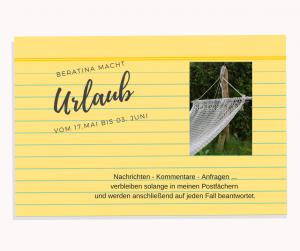 BeraTina macht Urlaub und sammelt neue Power für noch mehr gute Texte