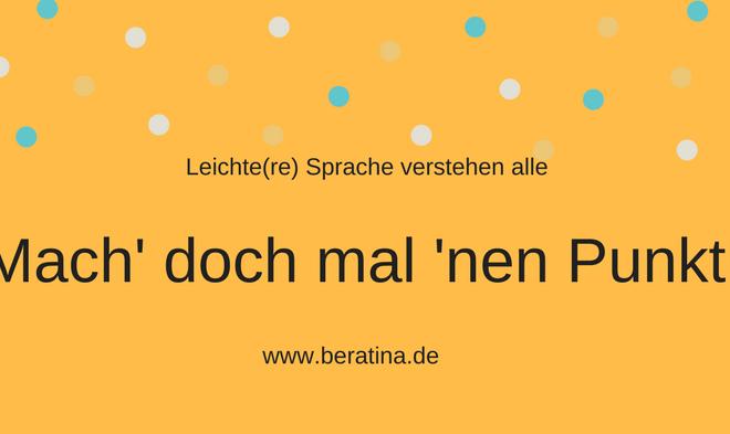 BeraTina Seminar Leichte Sprache bei der Lebenshilfe in Mainz