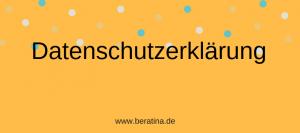 Datenschutz-Erklärung bei BeraTina Leichtere Sprache Einfache Sprache