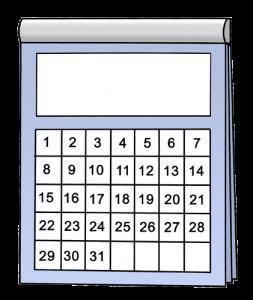 Kalender deadline Abgabetermin BeraTina Schreibberatung